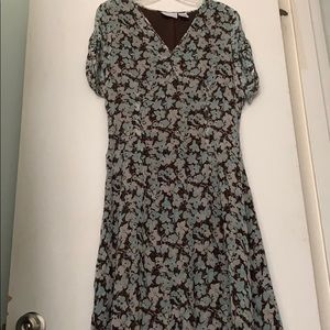 Jaclyn Smith Silk Floral Dress
